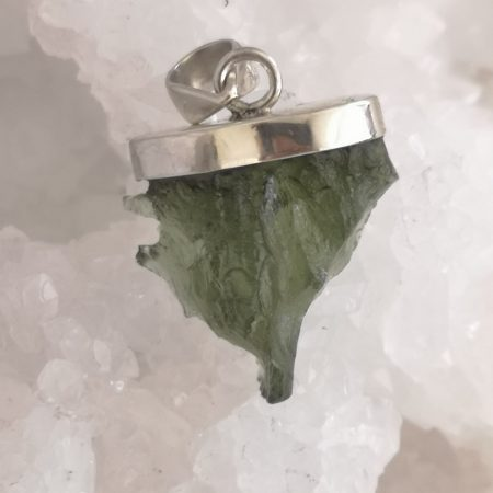 Moldavite A Healing Crystal Pendant by Mark Bajerski 5.24 grams