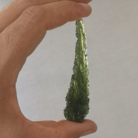 Moldavite Teardrop with Twist Tail Museum Grade AAA Rare Maly CHlum 15.39 grams