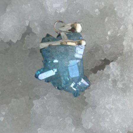Aqua Aura Healing Crystal Pendant by MArk Bajerski