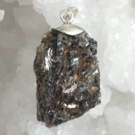 Large Astrophyllite Healing Crystal Pendant by Mark Bajerski