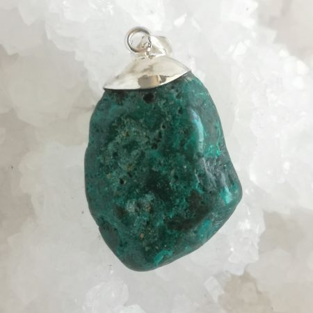 HQ Dioptase Healing Crystal Pendant by Mark Bajerski