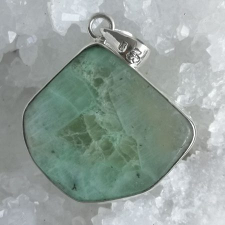 HQ Green Moonstone Healing Crystal by Mark Bajerski
