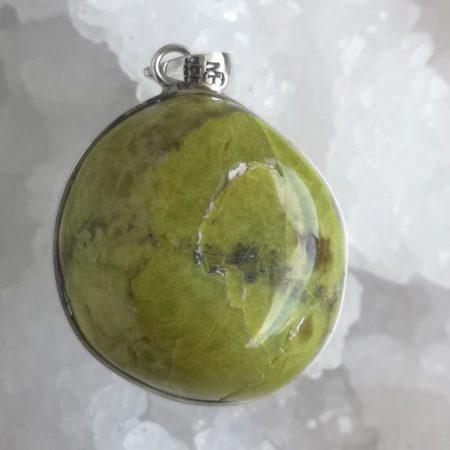 High Quality Green Opal Healing Pendant by Mark Bajerski