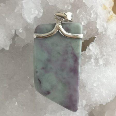 HQ Kammererite Healing Crystal Pendant by Mark Bajerski