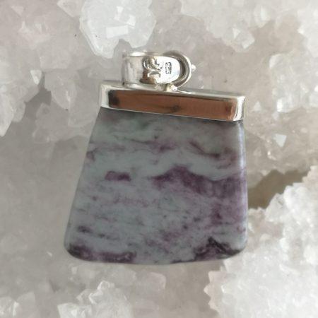 Kammererite Healing Crystal Pendnat by Mark BAjerski