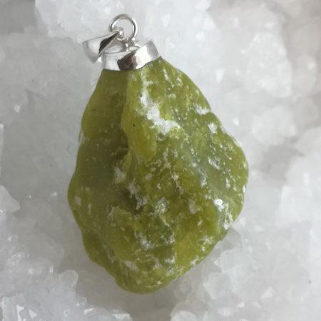 HQ Large Lizardite Healing Crystal Pendant by Mark Bajerski