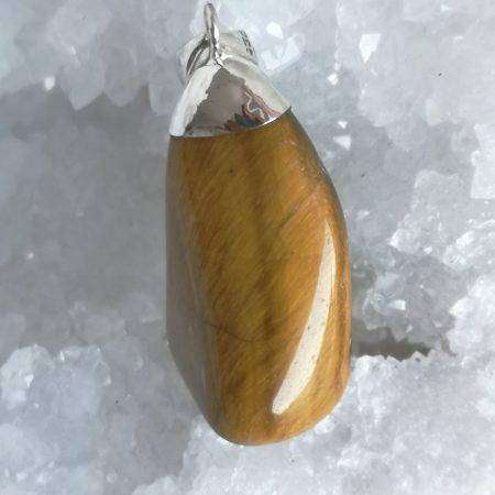 HQ Tigers Eye Healing Crystal Pendant by Mark Bajerski