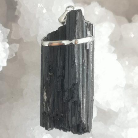 HQ Raw Black Tourmaline Healing Crystal pendant by Mark Bajerski