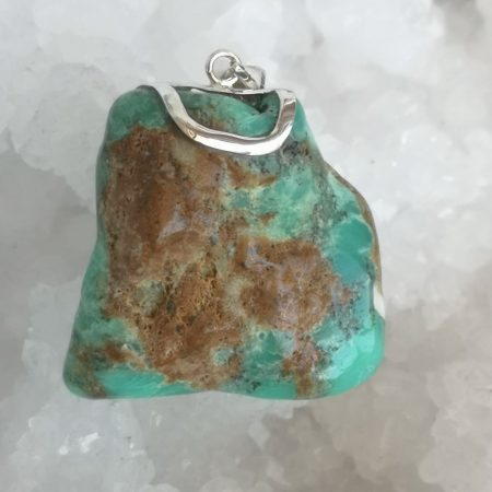 HQ Chrysoprase Healing Crystal Pendant by Mark Bajerski