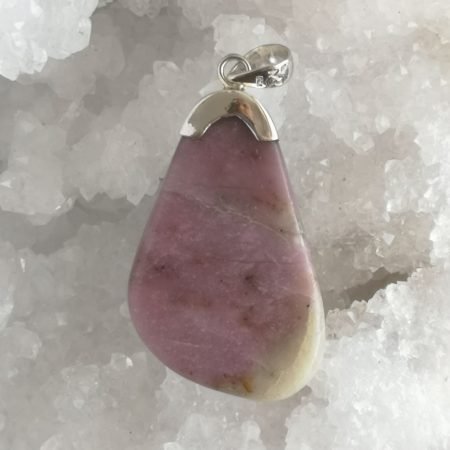 Pink Thulite Healing Crystal Pendant by Mark Bajerski