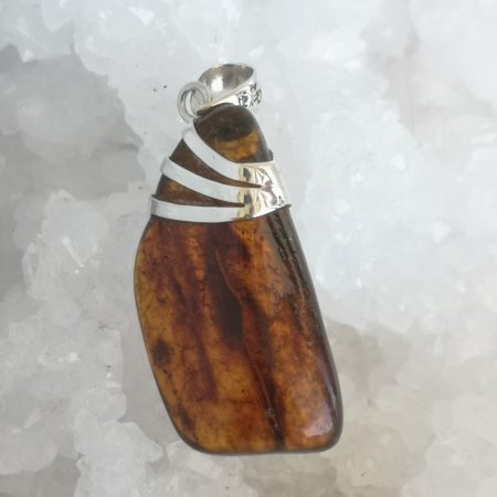 HQ Amber Healing Crystal Pendant by Mark Bajerski