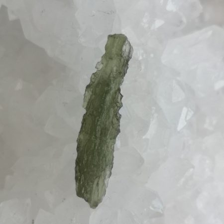 Moldavite Slice Healing Crystal by Mark Bajerski 0.79 grams