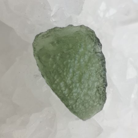 Moldavite Slice Healing Crystal by Mark Bajerski 1.79 grams