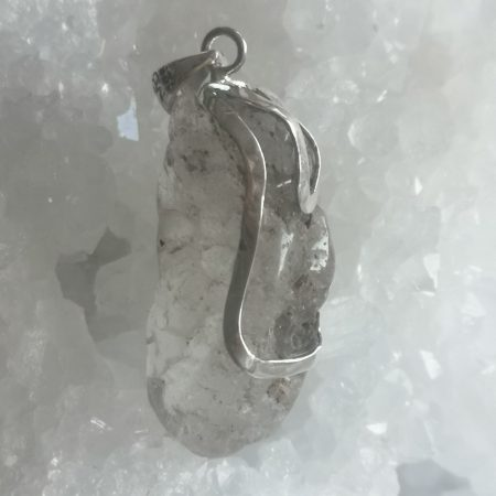 Nirvana Quartz Healing Crystal Pendant by Mark Bajerski