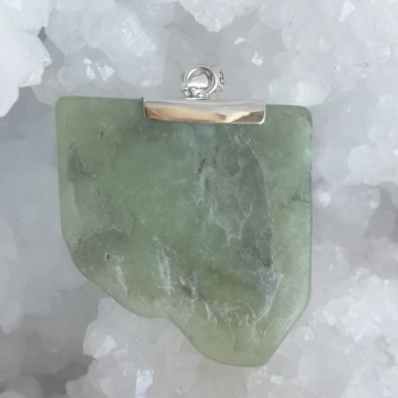 Prehnite with Epidote and Black Tourmaline Healing Crystal by Mark Bajerski