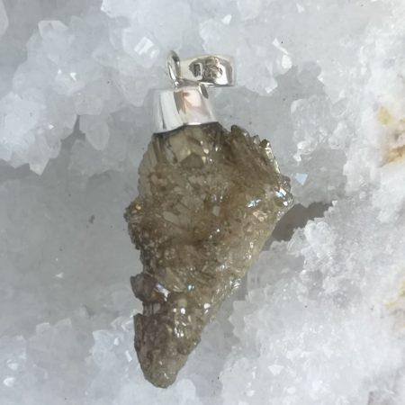 High Quality Smokey Aura Healing Crystal Pendant by Mark Bajerski