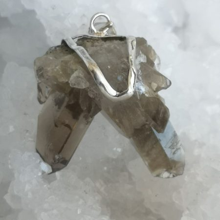 HQ Smokey Quartz Healing Crystal Pendant by Mark Bajerski