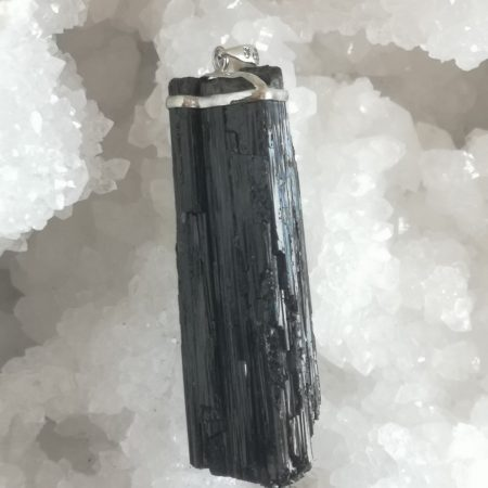 High Quality Raw Tourmaline Extra Large Healing Crystal Pendant by Mark Bajerski