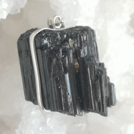 High Quality Extra Large Raw Tourmaline Large Healing Crystal Pendant by Mark Bajerski