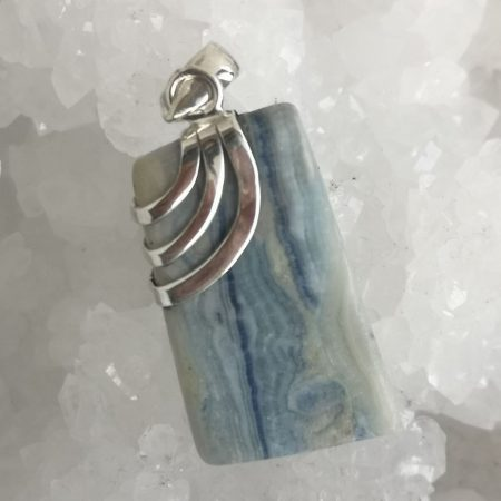 HQ Lapis Lace Healing Crystal Pendant by Mark Bajerski
