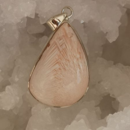 Pink Scolecite Healing Crystal Pendant