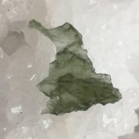 Grade AA Moldavite Slice from Besednice 2.36 grams