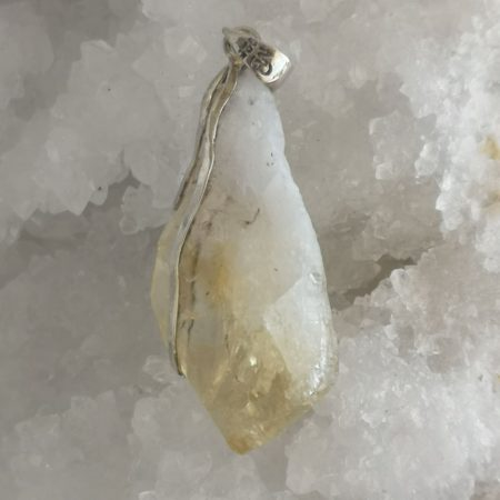 High Quality Citrine Pointer Healing Crystal Pendant