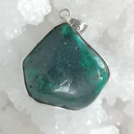 HQ Dioptase Healing Crystal Pendant by Mark Bajerski