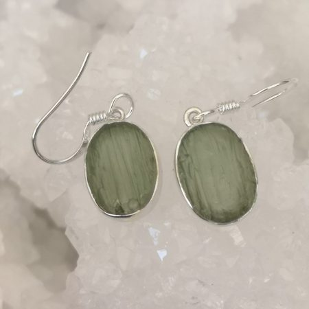 Moldavite Drop Earrings