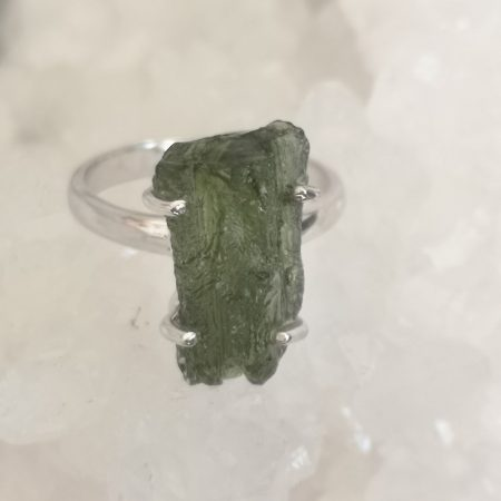 Moldavite Ring US Size 7
