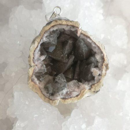 HQ Pink Amethyst Healing Crystal Pendant by Mark Bajerski
