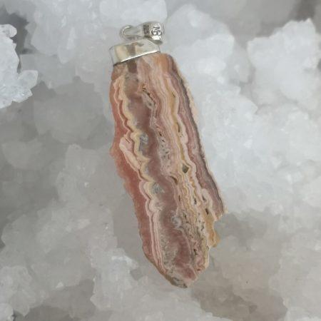 Rhodochrosite Healing Crystal Pendant by Mark Bajerski