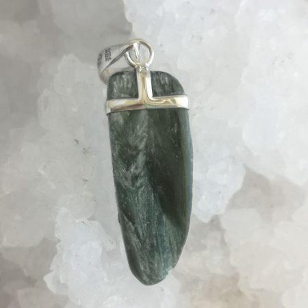 Seraphinite Healing Crystal Pendant by Mark Bajerski