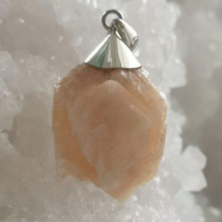 HQ Stilbite Healing Crystal Pendant by Mark Bajerski