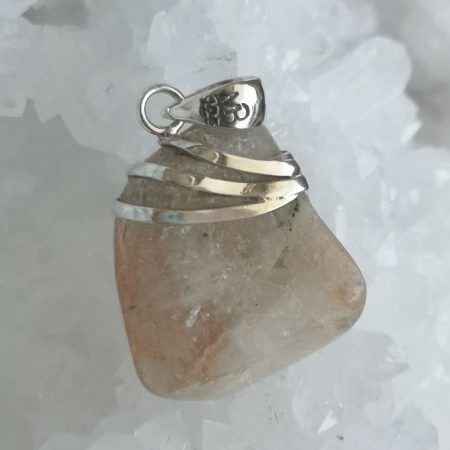 Sunstone Healing Crystal Pendant by Mark Bajerski