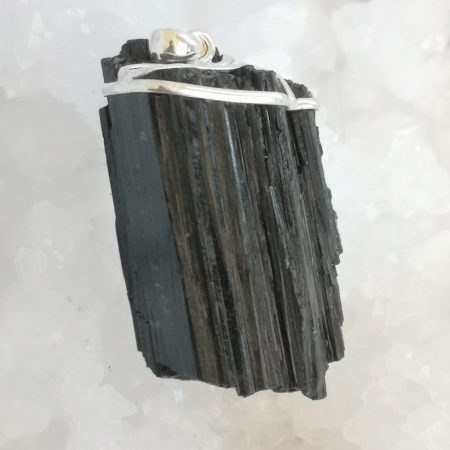 Large Black Tourmaline Healing Pendant by Mark Bajerski