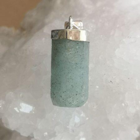 HQ Aquamarine Healing Crystal Pendant by Mark Bajerski