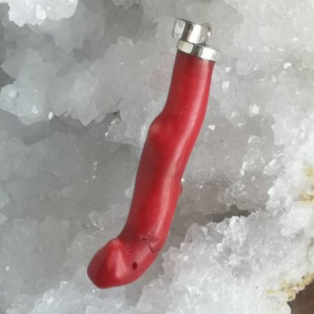 Red Coral Healing Crystal Pendant