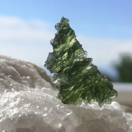 Museum Grade Moldavite from Besednice 4.21 grams