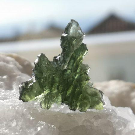 Museum Grade Moldavite from Besednice 4.41 grams