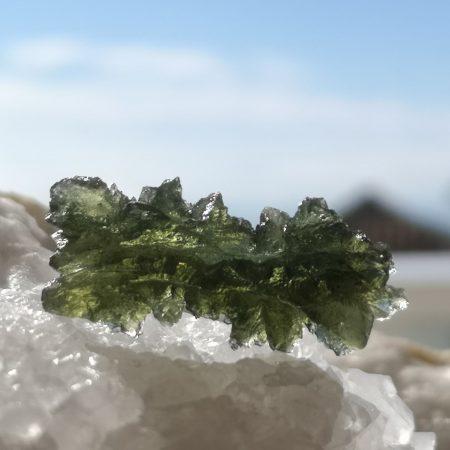 Museum Grade Moldavite from Besednice 4.28 grams