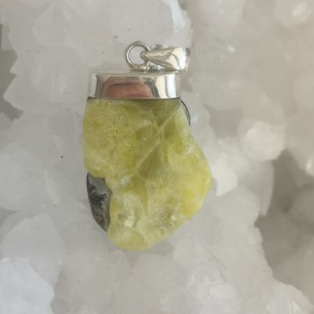 HQ Brucite Healing Crystal Pendant by Mark Bajerski
