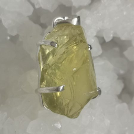 HQ Lemon Quartz Healing Crystal Pendant by Mark Bajerski