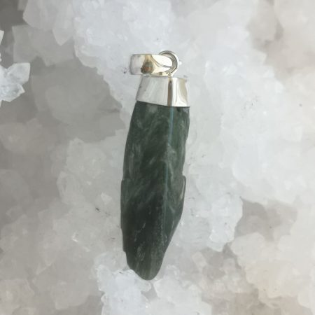 HQ Seraphinite Healing Crystal Pendant by Mark Bajerski