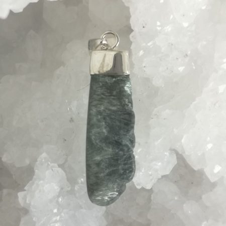 HQ Seraphinite Healing Crystal Pendant by Mark Bajerski