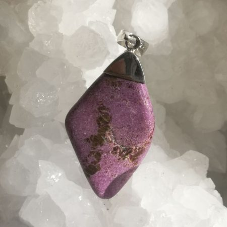 HQ Stichtite Healing Crystal Pendant by Mark Bajersk