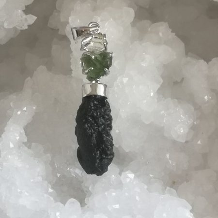 Moldavite Herkimer Diamond Tektite Healing Crystal Trio by Mark Bajerski