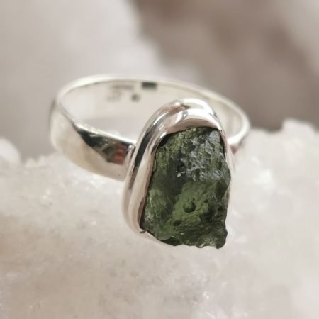 Moldavite Ring by Mark Bajerski