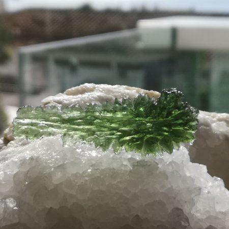 Museum Grade AAA Moldavite from Besednice by Mark Bajerski 10.89 grams