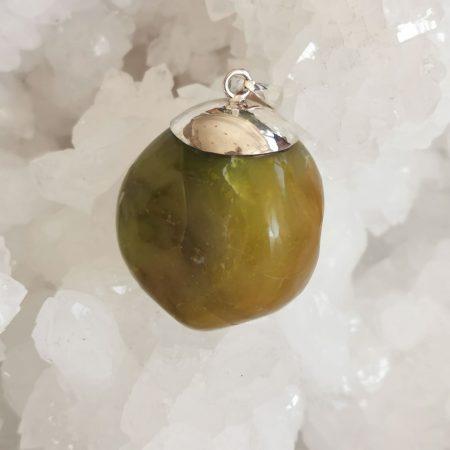 HQ Green Opal Healing Crystal by Mark Bajerski